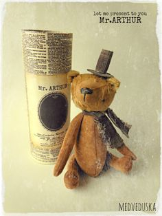OOAK teddy bear Mr.ARTHUR by Medveduska on Etsy, €55.00