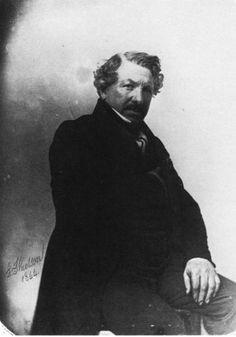 Louis Daguerre (1844) padre de la fotografía. Es uno de los primeros retratos fotográficos. París, 1844.
