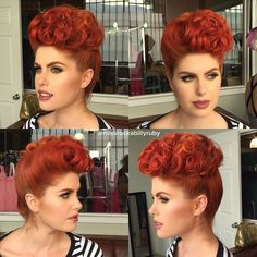 Image result for vintage pin up style updos