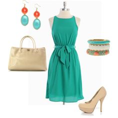 Turquoise and Nudes w/Stella & Dot Paige, Sloan and Sunset Bangles Bracelets: http://www.stelladot.com/sites/luckyandlovely