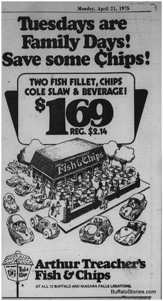 Arthur Treacher's Fish & Chips (1975).