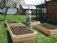 Raised garden boxes.