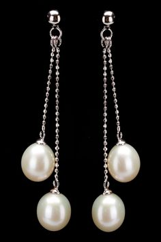 Splendid Pearls 7-8mm Double Pearl Earrings In White - Beyond the Rack