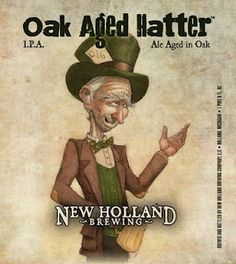 Oak Aged Hatter from New Holland Brewing. Art by me.