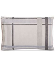 Hotel Collection Modern Plaid Standard Shams, Set of 2, Only at Macy's