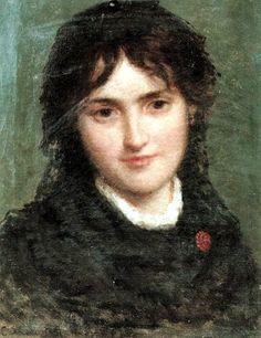 Ritratto di giovane donna, collezione privata, Raffaele Casnedi, pittore