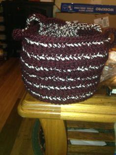 I didn't follow exactly but I used http://www.mooglyblog.com/organization-now-crochet-basket/