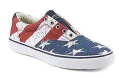 Stars, Stripes and Slip-Ons: Sperry Striper Stars and Stripes Sneaker