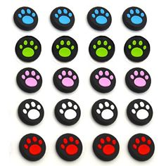10 Pairs20 PCS Silicone Cat Pad Joystick Thumb Stick Caps Cover for PS4 PS3 PS2 Xbox One360 Game Controller 20pcs -- You can find out more details at the link of the image.
