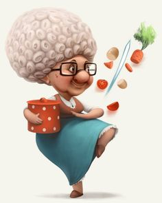 Grannies and pets on Behance  Anna Kulakovskaja