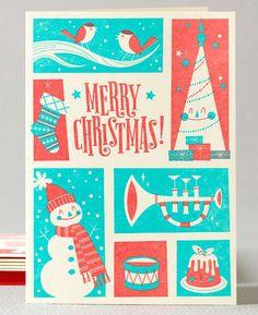 Christmas prints via #hellolucky