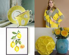 Bright and Sunny Yellow by Rebecca on Etsy--Pinned with TreasuryPin.com