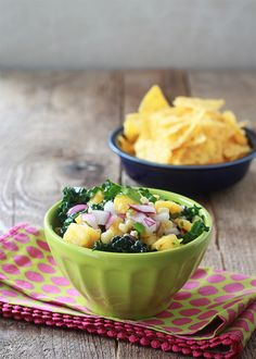 Kale, Corn, & Pineapple Salsa from @ktkare