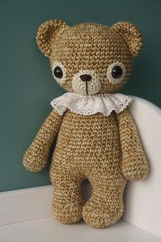 """Sweet """"pierrot"""" crocheted bear"""