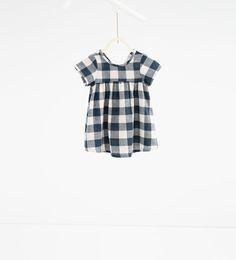 Check dress-DRESSES-BABY GIRL | 3 months-3 years-KIDS | ZARA United States