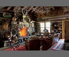 Another cabin on the ranch, 'Little Bear Cabin' named after a curious bear which frequented the area during construction.