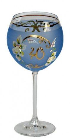 SHOP-PARADISE.COM:  Jubiläumsglas blau 400 ml H 21,5 cm D 11 cm 60 Jahre 13,99 €
