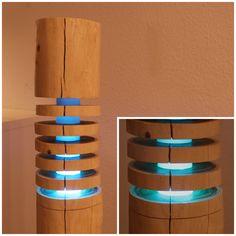 Stehlampen - Stehlampe aus Holz - Dynamic Mood Light Bluetooth - ein Designerstück von Shining-Wood bei DaWanda