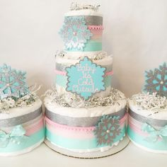 Winter Baby Shower Set Of 3 Diaper Cakes, Baby Itu0027s Cold Outside Baby Shower ,