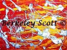 """Liquid Metal Magic""  18x24""  Acrylic on Canvas  By Berkeley Scott  www.Berkeleyscottart.com"