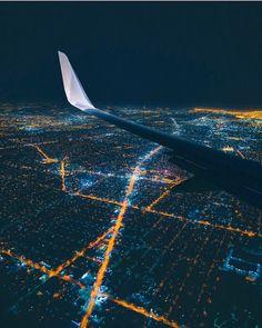 City lights LA California