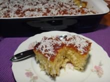 RAVANI WITH COCONUT FLAKES: A delicious cake full of coconut flavor... really incredible!!! Find the recipe by clicking on the photo above.