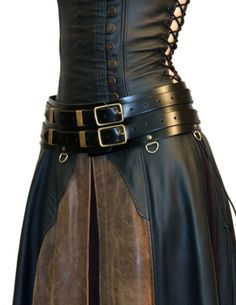 Ladies Warrior Belt Standard A versatile belt that is always ready for the next adventure. Women's Warrior belts and Men's Warrior belts are not only different sizes, but also slightly different shapes. The women's belt has a tapered form to fit the hips. Medieval Dress, Medieval Clothing, Steampunk Clothing, Steampunk Fashion, Medieval Fantasy, Medieval Belt, Costume Steampunk, Steampunk Accessoires, Fantasy Costumes