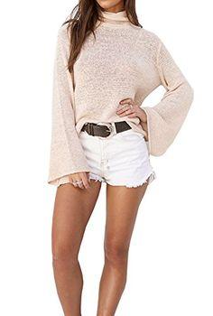Hibluco Womens Long Sleeve Backless Tops Casual Blouses Fashion Tshirts  Medium Khaki     You 2e7269ef4