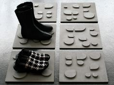 Concrete boot tiles. Finally some good looking winter design. Made in MTL!