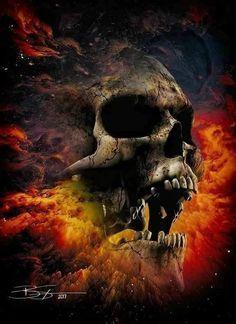 Diamond Painting Fire Devil Skull Paint with Diamonds Art Crystal Craft Decor Skull Artwork, Skull Painting, Dark Fantasy Art, Dark Art, Diy Poster, Grim Reaper Art, Badass Skulls, Totenkopf Tattoos, Skull Pictures
