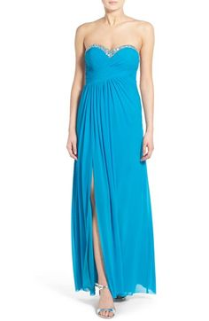 Jump Apparel 'Darla' Embellished Strapless Gown available at #Nordstrom