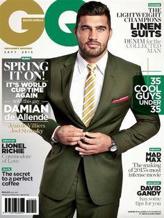 Damian de Allende en portada de GQ Sudáfrica Septiembre 2015 | Male Fashion Trends