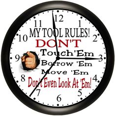 GARAGE / SHOP / TOOLS / Office / Business Wall Clock Custom Made For Dad.Simply Southern Gift.