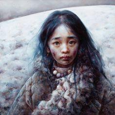 Tibetan child by Aixuan