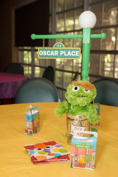 Sesame Street Centerpiece and favor, Sesame Street birthday party