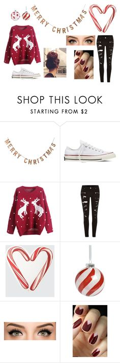 """merry christmas!"" by youngblood-killjoy-sinner ❤ liked on Polyvore featuring moda, Threshold, Converse, River Island, Draper James, women's clothing, women's fashion, women, female e woman"