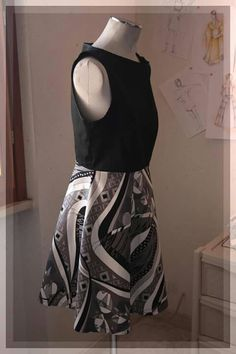 black,grey and white dress for summer
