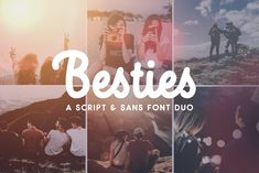 Besties - Font Duo Fonts **Introducing Besties - The perfect pair!**This fun and friendly typeface duo includes a monoline by Ian Barnard Pretty Fonts, Beautiful Fonts, Cool Fonts, Creative Fonts, Creative Sketches, Handwritten Fonts, Script Fonts, Texture Web, Besties Quotes
