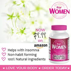 Natural Sleep Aid Supplement For WOMEN by Epic Nutrition for only $9.99! Check it out on Amazon! http://www.amazon.com/All-Natural-Non-Addictive-Melatonin-Epic-Nutrition/dp/B00ZB9UFT6/ie=UTF8?m=A3HOKN1LB9J74V&keywords=natural+sleep+aid
