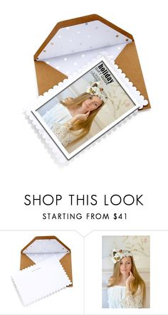 """""""Beautiful holiday wedding card"""" by carleen1978 ❤ liked on Polyvore featuring Sugar Paper"""
