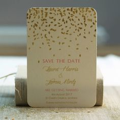 Are you interested in our gold leaves save the date cards? With our gold pink vintage wedding you need look no further.