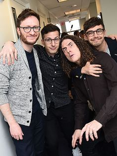 Lonely Island members Akiva Schaffer, Andy Samberg & Jorma Taccone are lookin' spec-tacular in their stylin' glasses!