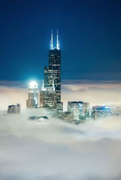 Chicago is one of the tallest cities on earth. We live in the clouds.