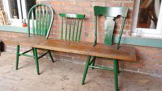 Wood bench / Banc en bois  Chair wooden bench