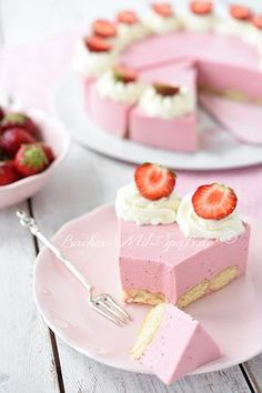 Erdbeer- Quark- Kuchen Quark Cheesecake, Healthy Cheesecake Recipes, Strawberry Cheesecake, Cupcake Recipes, Baking Recipes, Delicious Desserts, Nutella Muffins, Candy Cakes, Tr 4