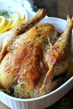 """Instant Pot Pressure Cooker Whole Chicken - This """"roast"""" chicken is one of my favorite Instant Pot recipes. It's so tender, and I can make it AND start a batch of broth in less time than it used to take me just to roast the chicken."""