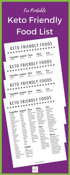 Free Printable Keto