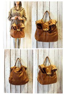 "MAIL BAG 7"" Handmade Italian Leather Messenger Bag di LaSellerieLimited su Etsy"