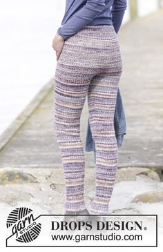 Free knitting patterns and crochet patterns by DROPS Design Warm Leggings, Knit Leggings, Knit Pants, Knitted Tights, Drops Design, Fall Knitting, Knitting Socks, Finger Knitting, Crochet Pants
