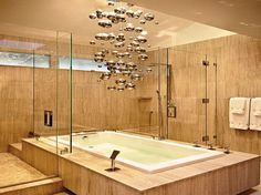 Awesome Design For Bathroom With Ball Chrome Ceiling Light Decoration Ideas